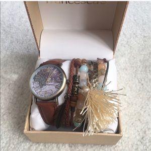 Francesca's watch and bracelet set